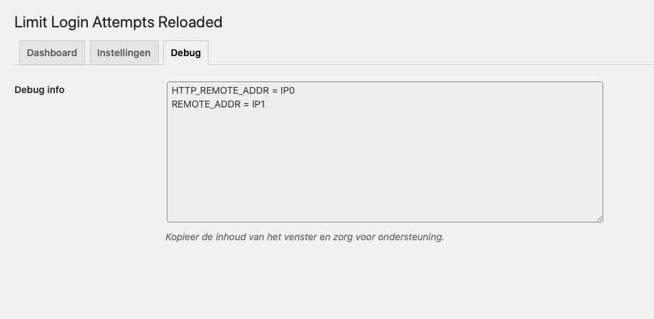 Instellingen Plugin Limit Login Attempts Reloaded 3