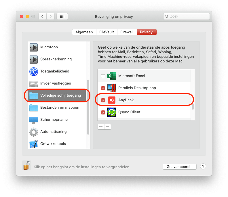 Instructie AnyDesk Mac 5