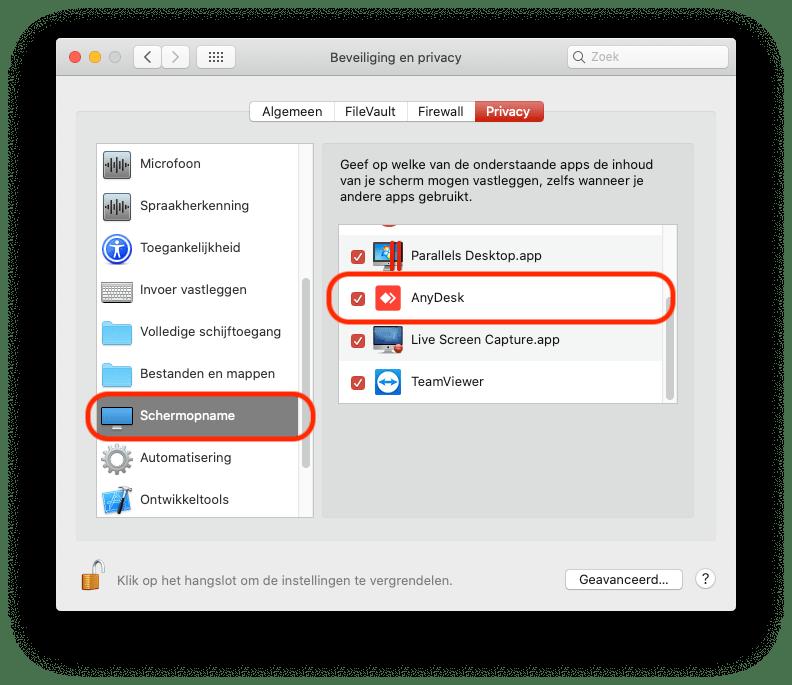 Instructie AnyDesk Mac 6